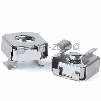M4 M5 M6 M8 Cage Rack Nuts - SUS 201 Stainless Steel
