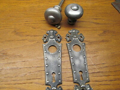 Old Industrial ?..primitive ?? Door Knob..escutcheons...door Plates