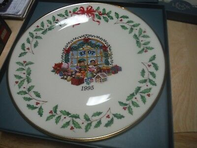 Lenox China Annual Holiday Christmas Plate 1995 Toys Original Box