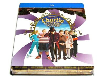 Charlie And The Chocolate Factory Steelbook Blu-Ray Import Region Free New