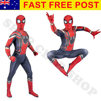 Avengers Infinity War Kids/Adults Iron Spiderman Cosplay Deadpool Costume