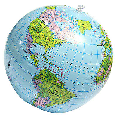 38Cm Inflatable World Globe Earth Map Teaching Geography Map Beach Ball-Kidstoy""