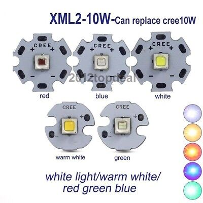 CREE XML2 XM-L2 10W White red green blue yellow High Power LED chip+16/20mm PCB