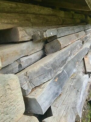Hand Hewn Beams from old Log Cabin use for fireplace mantles - ceiling beams
