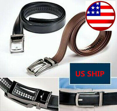COMFORT CLICK Leather Belt Automatic Adjustable Mens Gift US Seller HOT 2 color