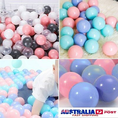 AU 50Pcs Colorful Soft Plastic Ocean Ball Funny Baby Kids Swim Pit Pool Ball Toy