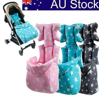 Baby Kids Seat Stroller Cushion Pad Liner Mat Pillow Body Support W/ Foot Cover