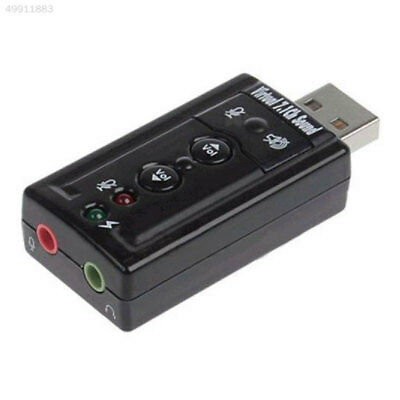 1B8C External USB 2.0 With Microphone Jack Virtual 7.1 Ch Sound Card Adapter*