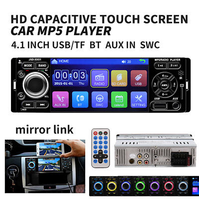 "4.1"" HD Single 1DIN JSD-3001 Car Stereo Video MP5 Player FM Radio AUX SD Camera"