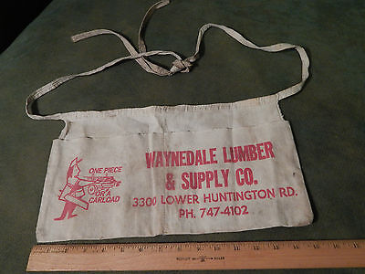 "Waynedale Lumber & Supply Co. ""One Piece or a Car Load"" (Employee Waist Apron)"