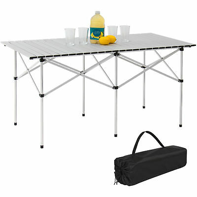 """Moustache® Camping Portable Aluminum 55"""" Roll-Up Picnic Table with Carrying Bag"""