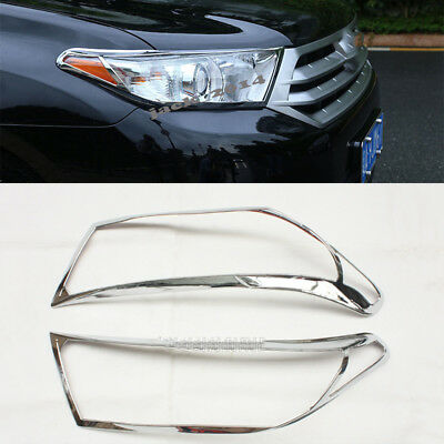 For Toyota Highlander 2011-2013 Hatchback SUV ABS Front headlight Lamp Cover 2X