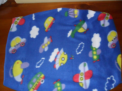 Blue cars & Planes print  Stokke shaped fitted nappy change cover.  72cm x 60cm
