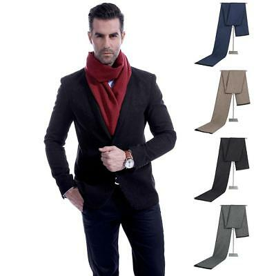 Autumn Winter Men's Plaid Imitated Cashmere Scarf Thickened Warm Muffler Gift