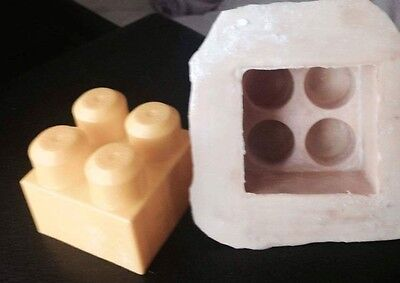 latex mould for making lego brick candle or soap