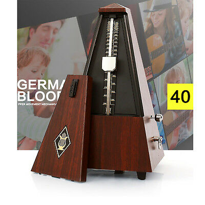 Mechanical Metronome Antique Vintage Style Wind Up Musical Tempo Timer For Piano