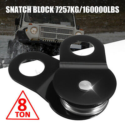 Heavy Duty Electric Winch Snatch Block Pulley Towing Off Road-Recovery 10Tons UK