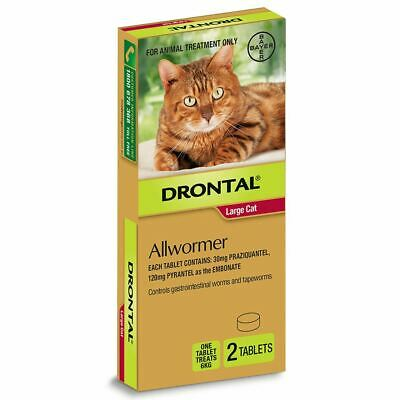 Drontal Allwormer Tablets for Cats up to 6 kg - 2 Pack