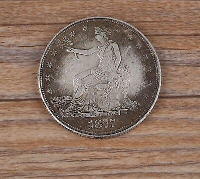 USA Coin 1877 Lucky Coin Good Luck Keep Away Evil Popular Silvery White Wealth
