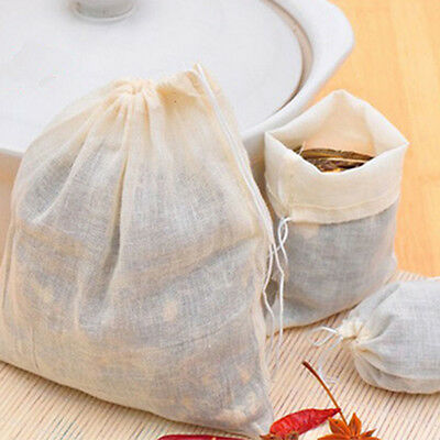 10 Pcs 10x15cm Large Cotton Muslin Drawstring Reusable Bags For Soap Herbs Tea