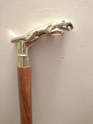Classic Style Wooden Cane Walking Stick Mother Mary Brown Wood Colour FAST UK