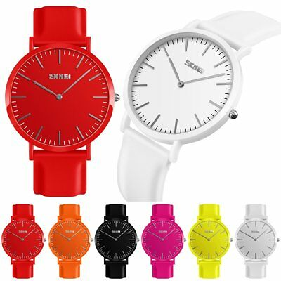 SKMEI Watch Women's Mens Fashion Jelly Color Silicone Band Waterproof Wristwatch