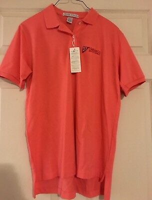 Nabisco Biscuit Company Womens Pink Izod Club Polo Employee Shirt Size Med Nwt