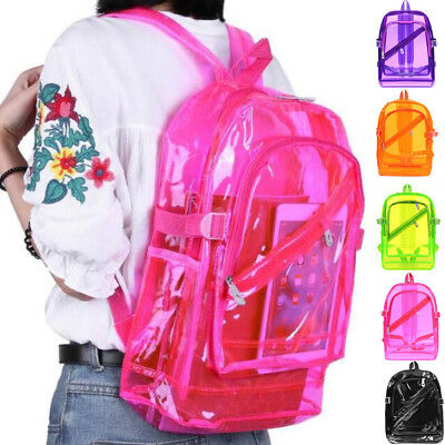 Luxury Unisex Clear Women Teenager Transparent School Backpack Female  Rucksacks b47a2f4cad