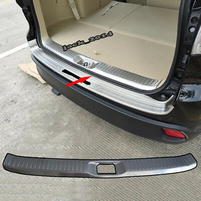 For Toyota Highlander 2015 16 2017 stainless Rear Bumper Sill Plate Guard Cover