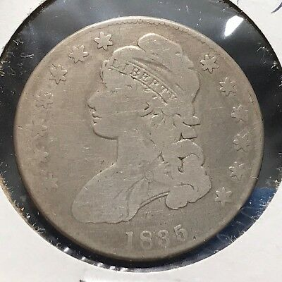 1835 50C Capped Bust Half Dollar (39072)