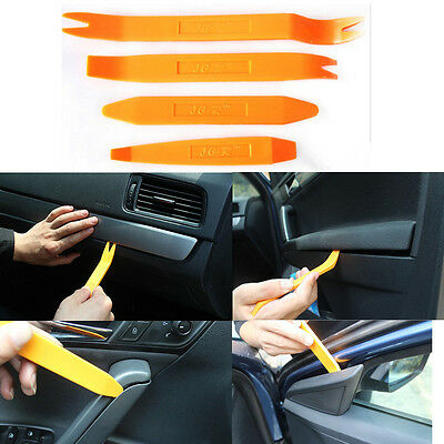 Plastica Car Radio Door Clip Panel Trim Dash Audio rimozione Tool Kit Pry x4