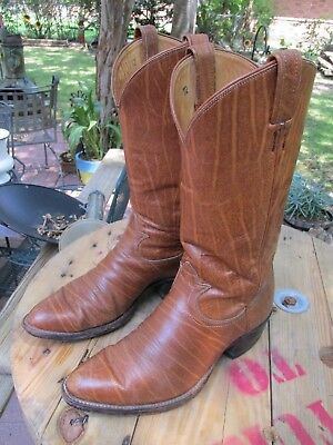 eb94258b705 RARE VINTAGE TONY Lama Exotic Leather Cowboy Western Boots Made In Usa 9.5 D
