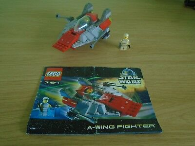 Lego 7134 Star Wars Awing A Wing Fighter Boxed Complete Instructions