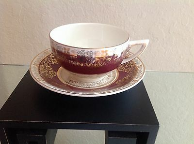 Crown Ducal  Bone China Tea Cup & Saucer Made In England