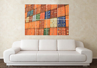 Large Shipping Containers Freight Funny Storage Wall Poster Art Picture Print