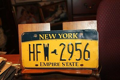 2010 New York Empire State License Plate  HFW 2956 BENT