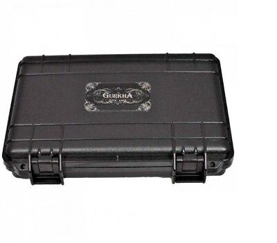 Gurkha Black 5 Cigar Caddy Travel Case - Airtight Crash Proof Cigar Humidor