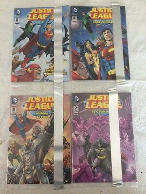 2014 GENERAL MILLS PROMO JUSTICE LEAGUE 5 6 7 8 MINI COMIC Include WONDER WOMAN