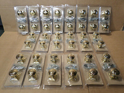 Bulk Job Lot 40  Brass Effect Door Knob Kitchen Cupboard Drawer Wardrobe Handle