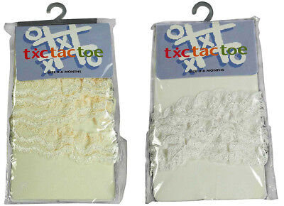 Tic Tac Toe Baby Newborn Infant Girl's Rhumba Microfiber Lace Tights