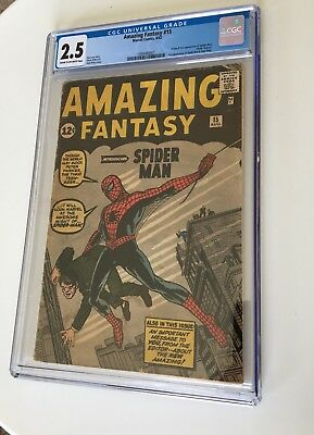 Amazing Fantasy #15 1962 CGC 2.5 GD+ 1st Appearance and Origin of Spider-Man!