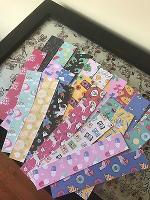 Mambi Classic Planner Precut Scrap Paper Weeks Spread Lot Of 24 2 Sides