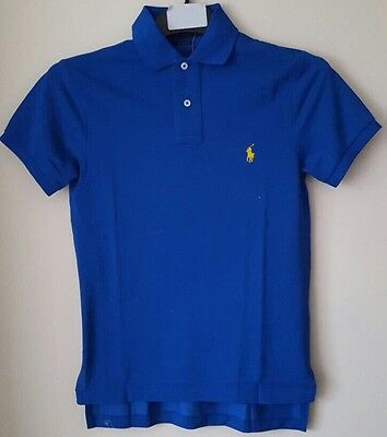 Bnwt Polo Ralph Lauren Mens Custom Fit Solid Mercerised Polo Shirt/Top Xsmall