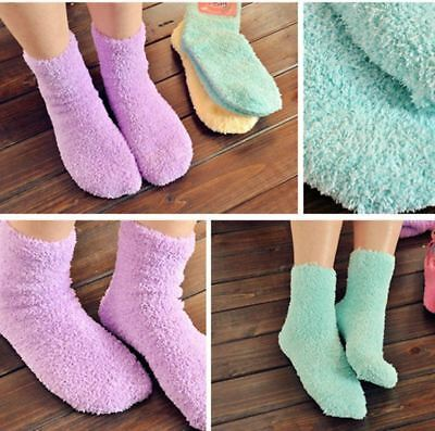 240 Pairs Wholesale Lot Womens Colorful Soft Fuzzy Crew Slipper Socks With Grip