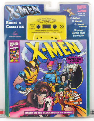 Marvel Comics Enter the X-Men Book & Cassette 1994 Collectible Mint on Card NEW