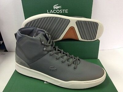 caea0302f4e682 Lacoste Explorateur Classic Hi-Top Mens Sneakers Trainers