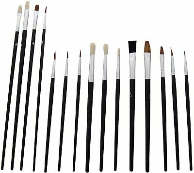 yiyongle 15pc Artists Paint Brush Set - Small & Round Tipped -packed brand new