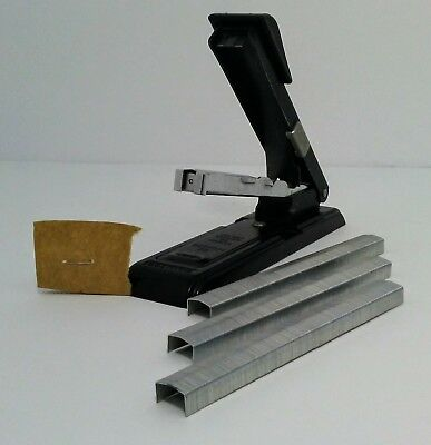 Vintage Black Bostitch B8 Stapler Office Business Retro With Staples