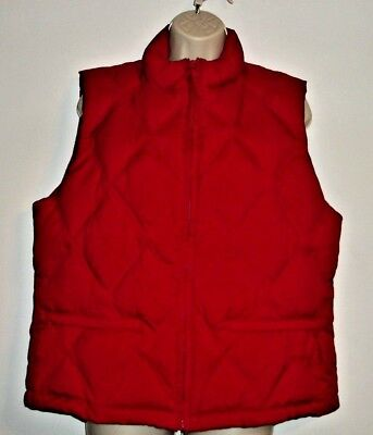 45cab2b95 GAP WOMENS DOWN Vest Medium Puffer Black Snap & Zip Rib Knit Sides ...
