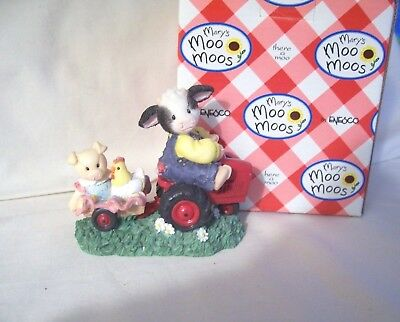 Mary Moo Moos Friends Will Never Steer You Wrong Cow On Tractor #319376